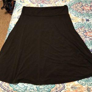 Black azure skirt